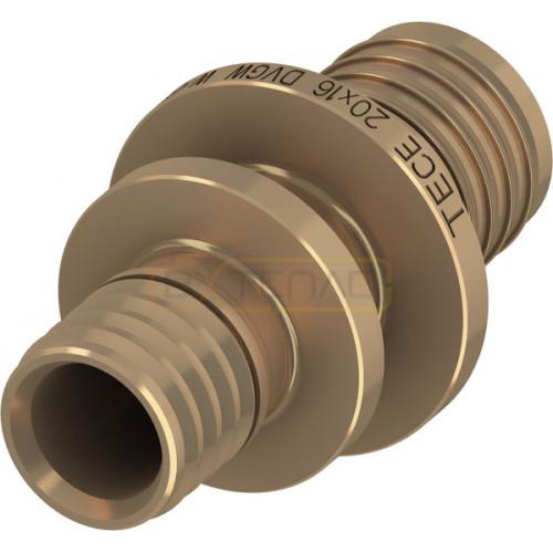 Соединение TECEflex труба-труба редукционное, 32 x 20, бронза