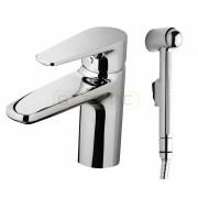 Смеситель Am.Pm Inspire для раковины с гигиеническим душем и донным клапаном, F5004000