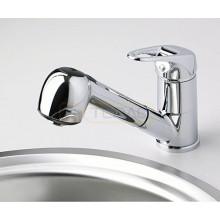Смеситель WasserKRAFT Oder 6365 для кухни с выдвижным изливом, хром