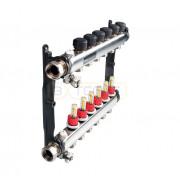 Коллектор стальной для поверхностного отопления в сборе, 4 контура, 77310004