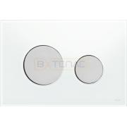 Кнопка смыва TECE Loop белое стекло кнопки матовый хром