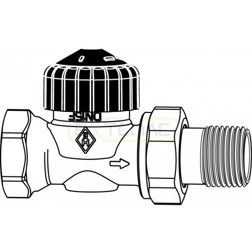 Термостатический клапан IMI Heimeier Calypso, без преднастройки, DN15, проходной, латунь