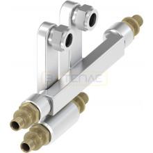 Двойной тройник TECEflex для подключения радиаторов 20 x 15 Cu x 20