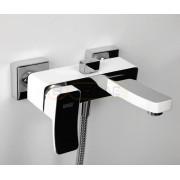 Смеситель WasserKRAFT Aller 1061WHITE для ванны с коротким изливом, комбинированное покрытие