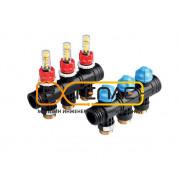 Коллектор пластиковый для поверхностного отопления, 3 контура, 77390030