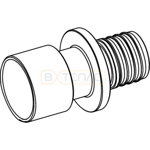 Адаптер TECEflex на медную или стальную трубу 20 x 18 x 22, пайка, латунь