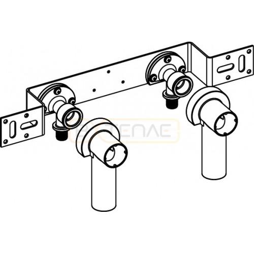 """Монтажный комплект TECEflex для смесителя с 2 водоразетками 16 x 1/2"""", латунь"""