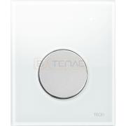 Кнопка смыва TECE Loop Urinal белое стекло, кнопка матовый хром, 9242659