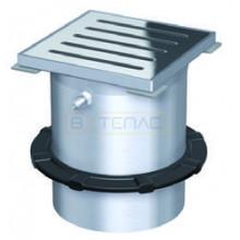 Надставной элемент для трапа BASIKA с рамкой 150х150