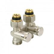 Клапан RLV-K, с возможностью опорожнения, для нижнего присоединения к радиатору Danfoss. Прямой, межосевое расстояние 50 мм, 003L0281