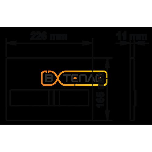 Инталяция для скрытого монтажа BERGES NOVUM L5 с черной кнопкой Soft Touch
