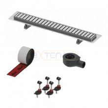 """Комплект TECElinus для монтажа дренажного канала с решеткой """"straight"""""""
