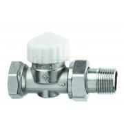 Термостатический клапан IMI Heimeier Calypso exact, с преднастройкой, DN15, проходной, латунь, 3452-02.000