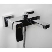 Смеситель WasserKRAFT Aller 1061 для ванны с коротким изливом, хром