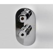 Термостатический смеситель WasserKRAFT Berkel 4833 для ванны и душа со встраиваемой системой монтажа