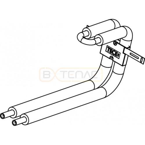 Монтажный узел TECElogo для радиатора, выход из стены