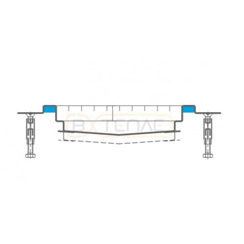 Дренажный лоток с заполнениением полостей для лучшей гигиены BASIKA KR