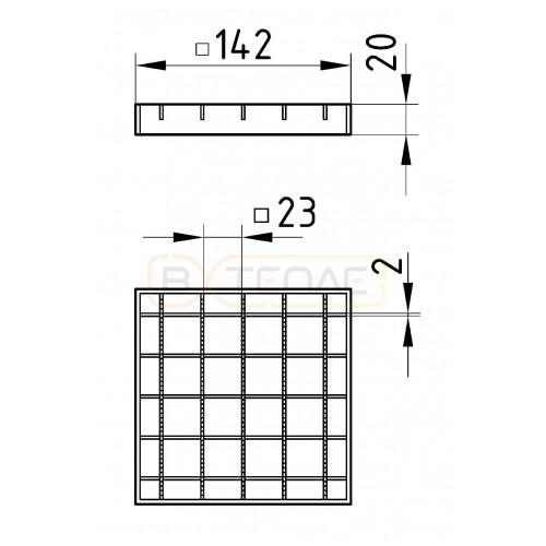 Колосниковая решётка для трапа BASIKA 142х142