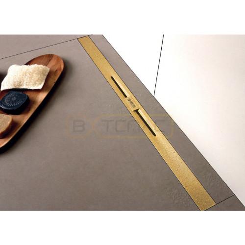 Душевой лоток BERGES SIMPEL 600, золото глянец, вертикальный выпуск S-сифон D50/105мм H30/135мм