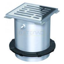 Надставной элемент для трапа BASIKA с прикручиваемой рамкой 150х150