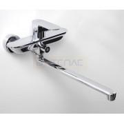 Смеситель WasserKRAFT Dinkel 5802L для ванны с длинным поворотным изливом 350 мм, хром, 5802L