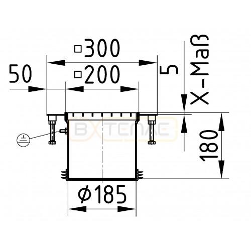 Надставной элемент для трапа BASIKA с прикручиваемой рамкой 200х200