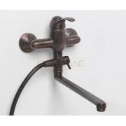 Смеситель WasserKRAFT Isar 1302L для ванны с длинным поворотным изливом 350 мм, темная бронза
