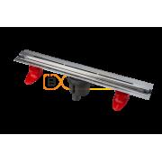 Душевой лоток BERGES SUPER line 550, матовый хром, вертикальный выпуск S-сифон D50/105мм H30/80мм, 090080