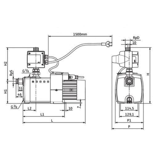 Автоматическая насосная станция Wilo HiMulti 3 C 1-24 P