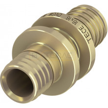 Соединение TECEflex труба-труба 20 x 20, латунь