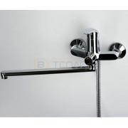 Смеситель WasserKRAFT Isen 2602L для ванны с длинным поворотным изливом 350 мм, хром, 2602L