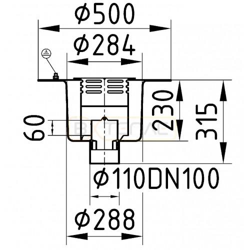 Дренажный трап BASIKA л/c 7,0 DN 100