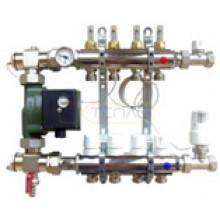 Смесительный узел для теплого пола с термостатическим клапаном и насосом Wilo RS 25\130