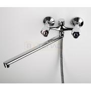 Смеситель WasserKRAFT Amper 2902L для ванны с длинным поворотным изливом 350 мм, хром, 2902L