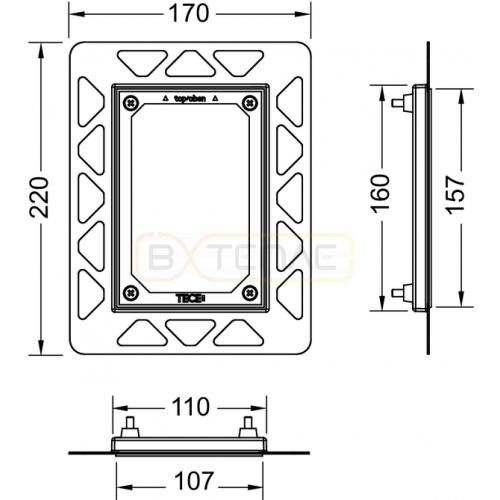 Рамка монтажная TECE Filo хром 9242040