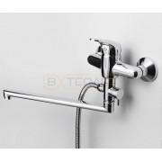 Смеситель WasserKRAFT Oder 6302L для ванны с длинным поворотным изливом 350 мм, хром, 6302L