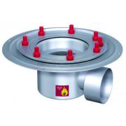 Дренажный трап с горизонтальным штуцером BASIKA л/c 1,6 DN 100