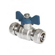 Кран шаровой AQUALINK для металлопластиковых труб 16x20
