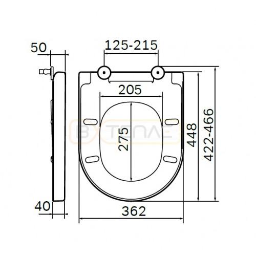 Крышка-сиденье Am.Pm Spirit V2.0 с микролифтом