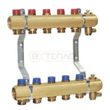 """Коллектор TECE с вентелями для систем отопления, 1"""" x 3/4""""Ек, 7 контуров"""
