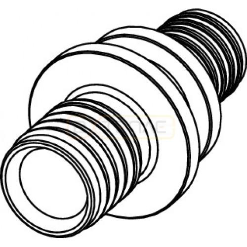 Соединение TECEflex труба-труба редукционное, 25 x 20, бронза