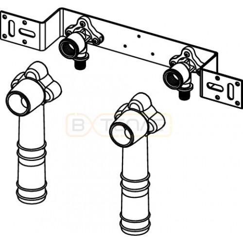 """Монтажный комплект TECEflex для смесителя с 2 водоразетками 20 x 1/2"""", бронза"""