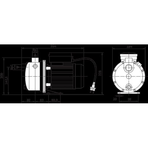 Насосная станция с одноступенчатым насосом Wilo WJ 203-X EM