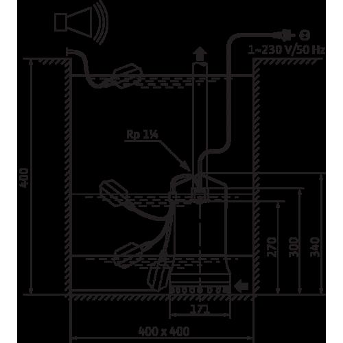 Погружной дренажный насос Wilo TS 32/12-A