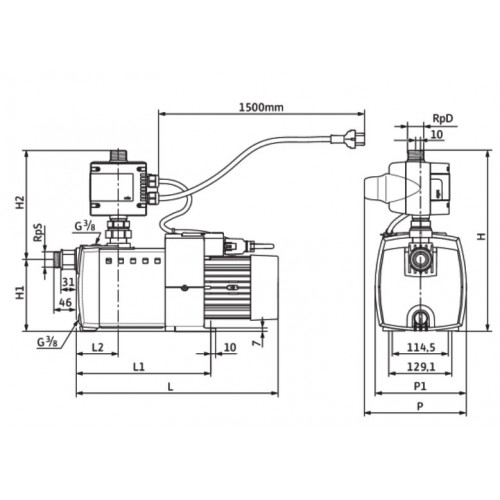 Автоматическая насосная станция Wilo HiMulti 3 C 1-25 P