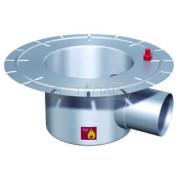 Дренажный трап с горизонтальным штуцером BASIKA л/c 3,0 DN 100