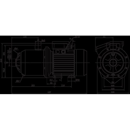 Насосная станция с многоступенчатым насосом Wilo MP 305-DM