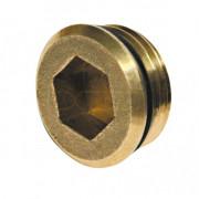 """Заглушка KAN-therm с наружной резьбой 1/2"""" с гнездом под имбусовый ключ, 6095.34"""
