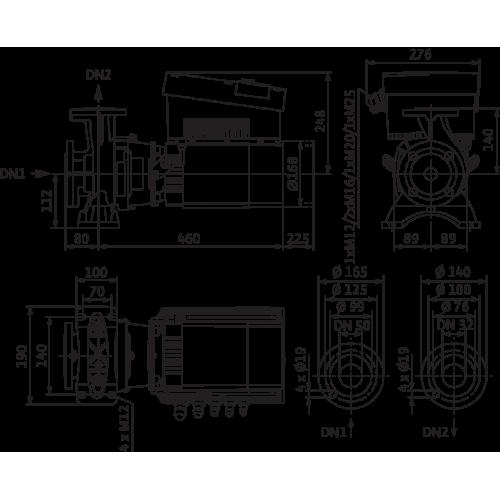 Моноблочный насос Wilo STRATOS GIGA B 32/1-45/3,8-R1