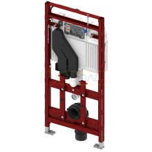 Застенный модуль TECElux 400 для установки подвесного унитаза, h=1120 мм, регулируемый по высоте, с системой очистки воздуха